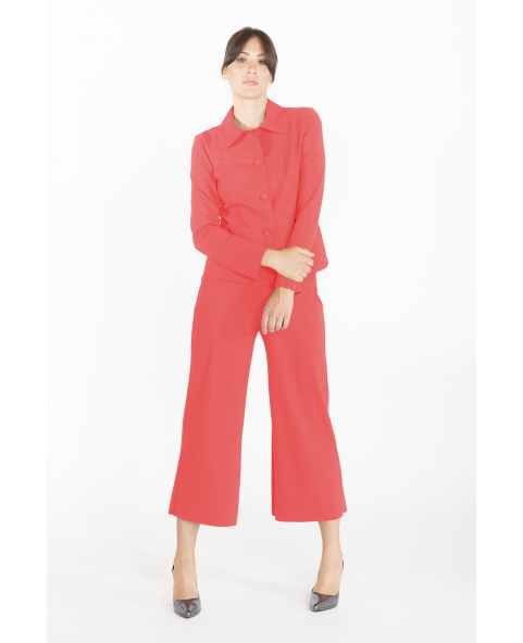 Rounded collar jacket