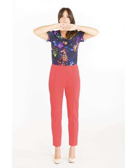 Cigarette pintuck trousers